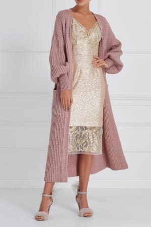 Платье-комбинация с пайетками A LA RUSSE. Цвет: золотой