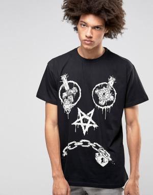 Long Clothing Oversize-футболка X Mishka Vex. Цвет: черный