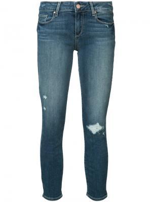Рваные джинсы Paige. Цвет: синий
