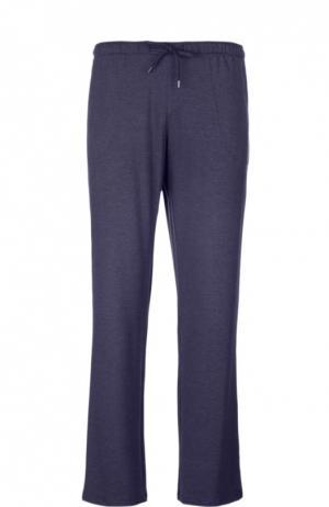 Домашние брюки из вискозы свободного кроя Derek Rose. Цвет: темно-синий