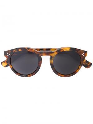 Солнцезащитные очки Leonard с черепаховым эффектом Illesteva. Цвет: коричневый