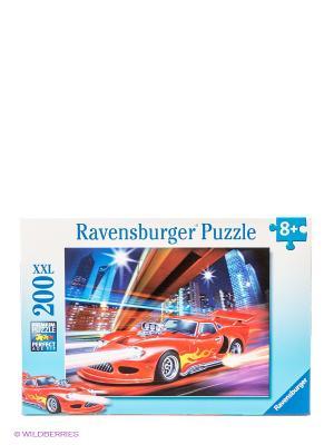Паззл Ночная гонка XXL, 200 шт Ravensburger. Цвет: голубой