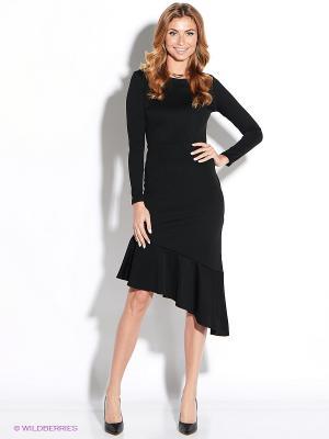 Платье TuttoBene. Цвет: черный