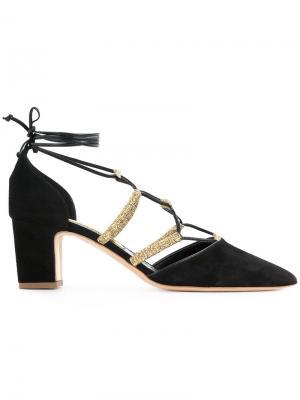 Туфли с завязками Rupert Sanderson. Цвет: чёрный
