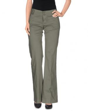 Повседневные брюки GOLD CASE SOGNO. Цвет: зеленый-милитари
