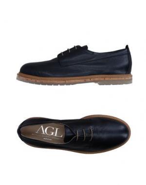 Обувь на шнурках AGL ATTILIO GIUSTI LEOMBRUNI. Цвет: темно-синий