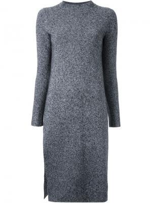 Меланжевое платье Scanlan Theodore. Цвет: серый