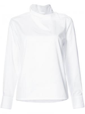Блузка с длинными рукавами и пуговицами Atlantique Ascoli. Цвет: белый