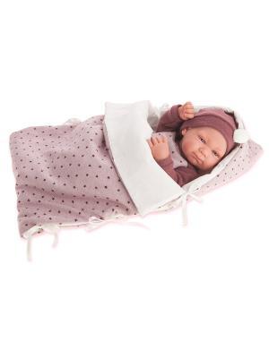 Кукла-младенец Габриэла, 42 см. Antonio Juan. Цвет: светло-голубой, серый