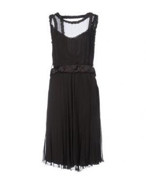 Платье до колена LOVE SEX MONEY. Цвет: темно-коричневый