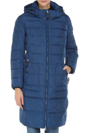 Полуприлегающее пальто с 4-мя карманами Vlasta. Цвет: 3560 синий