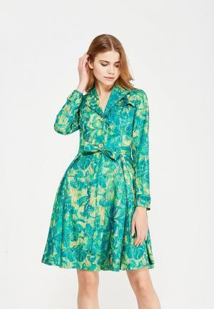 Плащ Sahera Rahmani. Цвет: зеленый