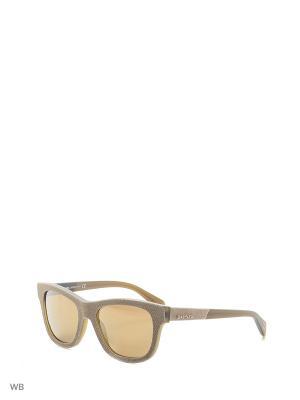 Солнцезащитные очки DL 0111 47L Diesel. Цвет: бежевый, серый