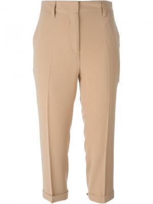Укороченные классические брюки Alberto Biani. Цвет: телесный