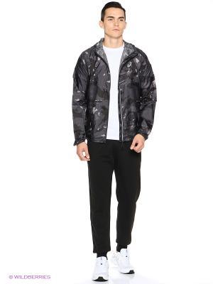 Куртка FujiTrail Pack Jkt ASICS. Цвет: серый, черный
