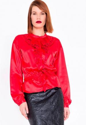 Блуза LO. Цвет: красный