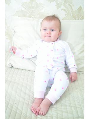 Слип Cuore Amore Babich Baby. Цвет: фуксия, розовый, белый