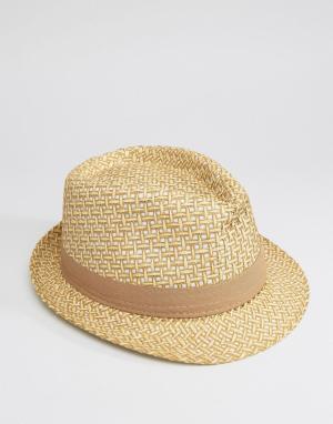 7X Соломенная шляпа в стиле 7-х. Цвет: рыжий