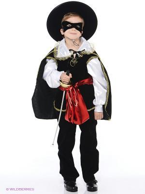 Карнавальный костюм Зорро Батик. Цвет: черный