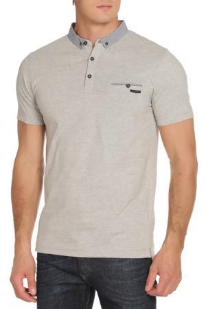 Рубашка-поло DISSIDENT. Цвет: light grey marl