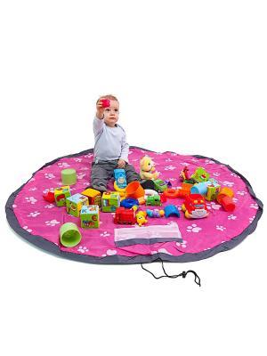 Сумка-коврик Лужайка, 150 см, розовая Homsu. Цвет: розовый