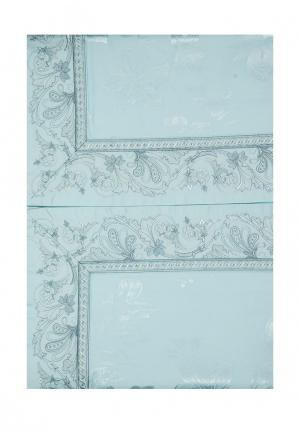 Комплект постельного белья Евро Asabella. Цвет: бирюзовый