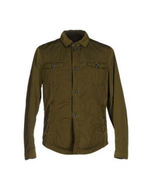 Куртка HEVÒ. Цвет: зеленый-милитари