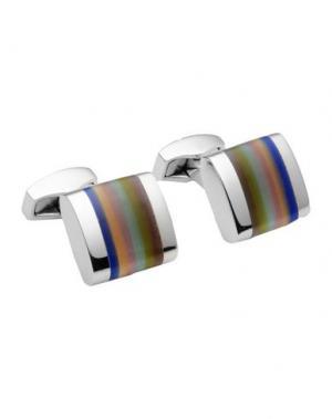 Запонки и зажимы для галстука TATEOSSIAN. Цвет: серебристый