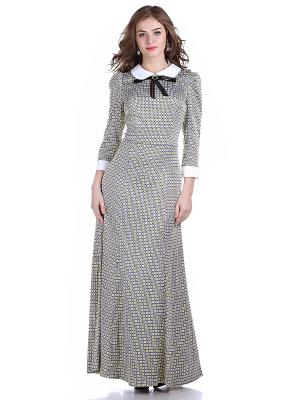 Платье OLIVEGREY. Цвет: серый, желтый