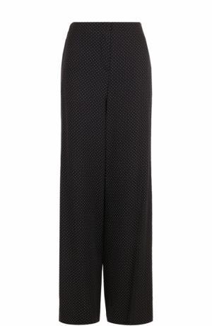 Шелковые расклешенные брюки в горох Diane Von Furstenberg. Цвет: черно-белый