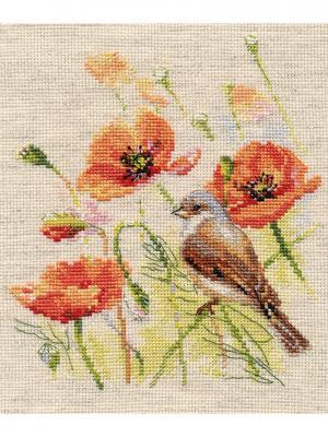 Набор для вышивания Ремез  15х18 см, Алиса. Цвет: зеленый, коричневый, красный