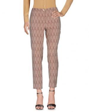 Повседневные брюки LE'S. Цвет: красно-коричневый