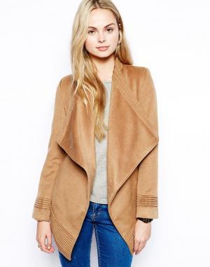 Jovonnista Пальто с запахом Phoebe. Цвет: рыжий