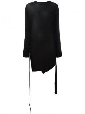 Удлиненная футболка Barbara I Gongini. Цвет: чёрный