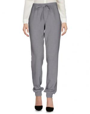 Повседневные брюки SUBLEVEL. Цвет: светло-серый