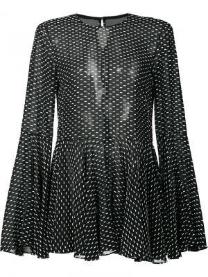 Полупрозрачная свободная блузка Rosetta Getty. Цвет: чёрный