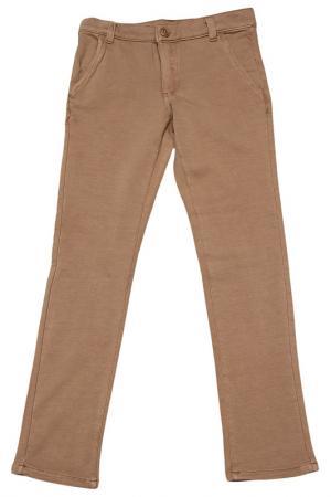 Трикотажные брюки Dodipetto. Цвет: коричневый