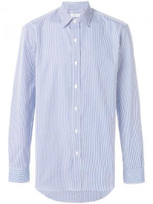 Полосатая рубашка Salvatore Piccolo. Цвет: синий