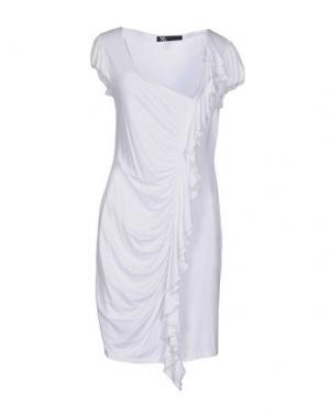 Короткое платье X'S MILANO. Цвет: белый