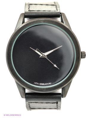 Часы Mitya Veselkov Черные на черном. Цвет: черный