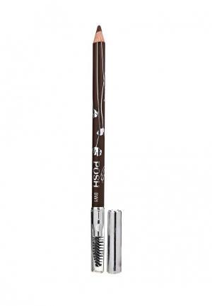 Карандаш для бровей Posh. Цвет: коричневый