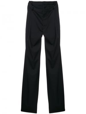 Прямые классические брюки Y / Project. Цвет: чёрный