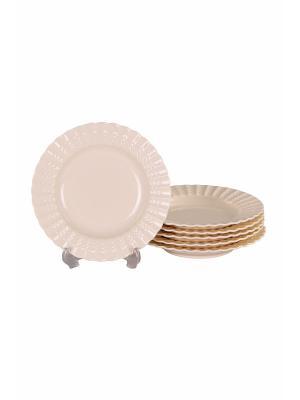 Набор глубоких тарелок 6 шт 19см, PATRICIA. Цвет: белый