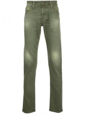 Джинсы Tellis Modern кроя слим Ag Jeans. Цвет: зелёный
