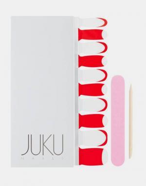 JUKU Nails Прозрачно-красные наклейки для ногтей. Цвет: красный