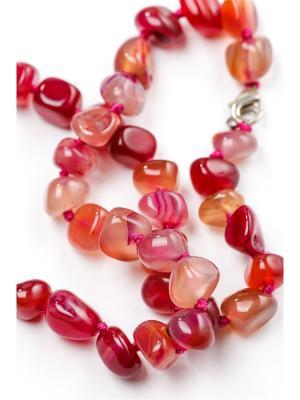 Бусы Oceania. Цвет: фуксия, розовый, бежевый