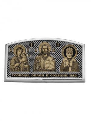 Икона автомобильная Серебро России. Цвет: серебристый
