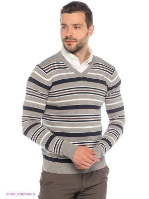 Пуловер Oodji. Цвет: серый меланж