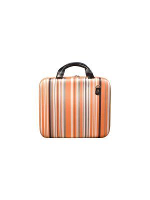 Кофр для ноутбука Оранжевые полосы, большой Kawaii Factory. Цвет: оранжевый