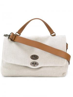 Большая сумка-тоут Postina Zanellato. Цвет: телесный